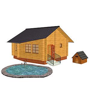 Проект одноэтажного дома 3 кв м